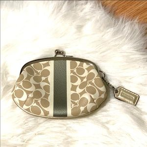 Authentic Coach kiss-lock coin purse